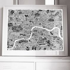 Typographic London Film Map Print - Run for the Hills