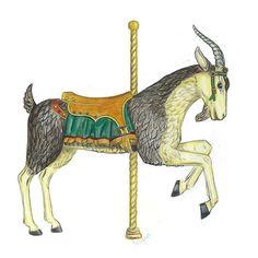 Carousel Goat at Tilden Park Oakland