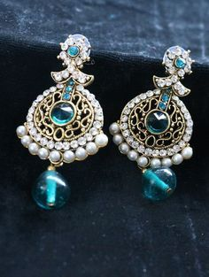 Get Designer and Trendy earrings with pearl work online   STYYO Available Just only at Rs. 192.00 Get it Now!!