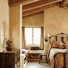 Bedroom In A Relaxing Feeling Gentle Flecks Of Burgundy Red On The