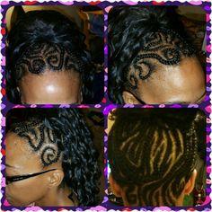 Braids in to ponytail.  Hair We Go with.... Adrienne Curry.   #creativehair #braids