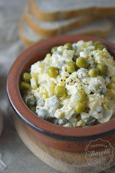 Pasta jajeczna z groszkiem i cebulką - kuchniabazylii.pl - blog kulinarny