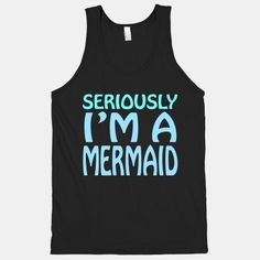 Browse our collection of 79486 Tank Tops . All designs are available on T-Shirts, Tank Tops, Racerbacks, Sweatshirts, Hoodies and other styles. Designed and printed in the USA. Slogan Tshirt, T Shirt, Mermaid Tank Top, Disney Outfits, Funny Tees, Disney Style, Hoodies, Sweatshirts, Diy Clothes