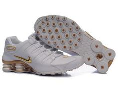 best service 80127 c0086 fQlCHSy Nike Shox NZ Trainers White Gold Canada Online Cheap Nike, Nike  Shoes Cheap