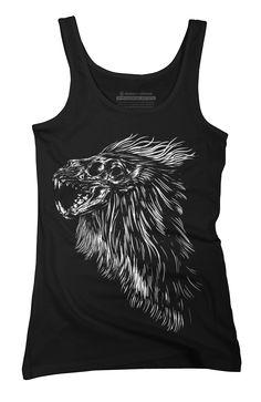 Lion skull Womens Tank Top