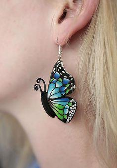 Náušnice motýle velké by agardimirka - SAShE.sk - Handmade Náušnice