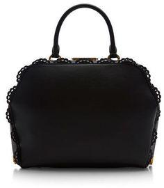 Simone Rocha Large Black Scalloped Bag Black