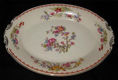 Syracuse Bombay Oval Platter in ivory 14 . $58.49 at claireted on ebay 6 & Syracuse China Old Ivory BOMBAY Salad Plate Floral with Bird 8 ...