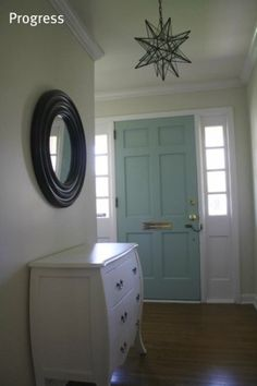 Benjamin moore whythe  blue and sherwin williams natural choice