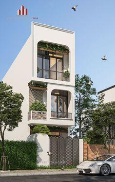 Nice 50 Trending Modern Home Design Exterior Small House Exteriors, Modern Exterior House Designs, Modern Architecture Design, Facade Design, Narrow House Designs, Latest House Designs, Bungalow House Design, House Front Design, Arch House