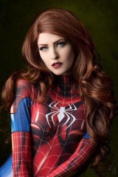 Maid of Might as Spider MJ - More at https://pinterest.com/supergirlsart #maidofmight #spiderman #maryjane #mary #jane #watson #cosplay #girl