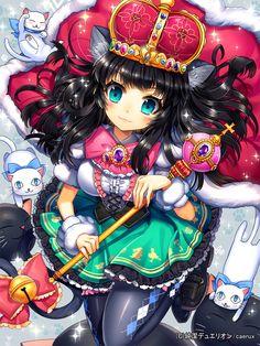 The Queen Cat By Ellsat On Deviantart Anime Neko Kawaii Anime Anime