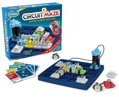 Hands-on review of ThinkFun's Circuit Maze logic puzzle game (2016)