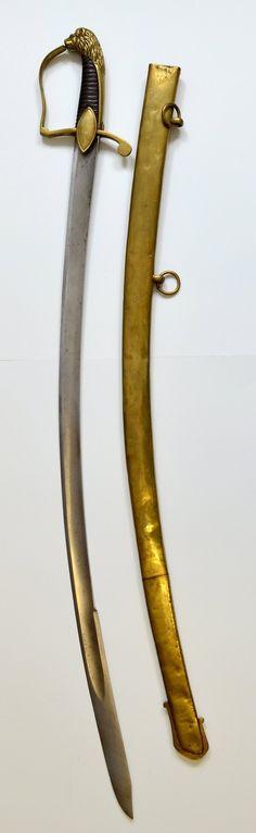 Füsilieroffizierssäbel, Preußen, um 1810 Gesamtansicht [Museum Weißenfels - Schloss Neu-Augustusburg]
