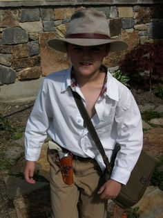 Indiana Jones Costume. Collin's choice for this year (we already have the hat and khakis!)