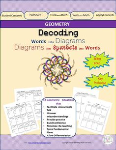 Labeling Practice: Vocabulary To Diagrams_OR_Diagr. to Symb. to Vocab.42 situations available to practice. First 21 are focused on interpreting Geometry Vocabulary into Diagrams. The other 21 are focused on decoding Diagrams into appropriate Symbolic representation, and corresponding Vocabulary.