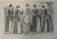 Old Rags - Yachting and seaside dresses, 1885 US, Harper's Bazaar