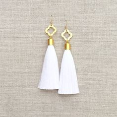 Gameday Tassel Earrings by LovesAffect on Etsy
