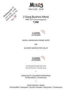 Unser Mittagskarte fuer den 13.04.16   Milos Wein Restaurant  www.milos-muenchen.de #Mittagskarte #Mittagsmenu #Businesslunch #Milos #Wein #Restaurant #Muenchen #Neuhausen #Grieche #griechischesrestaurant
