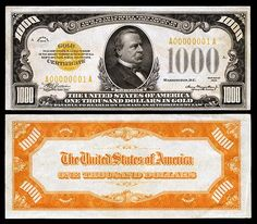 List of presidents of the United States on currency List Of Presidents, American Presidents, Money Template, Grover Cleveland, Gold Money, World Coins, Rare Coins, Coin Collecting, Certificate