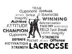 Lacrosse Text art print