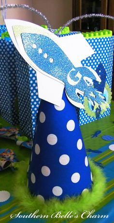 Blue rockets are perfect for a spring-time little boy's birthday party #BRITAXStyle