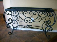 Iron Console Table. Old World, Tuscan, Hacienda, Rustic, Spanish, Medieval, Mediterranean, Gothic Home decor. Hand made and hand finished.
