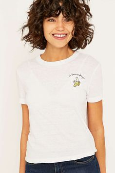 Future State - T-shirt Romance motif banane à bords contrastants - Urban Outfitters