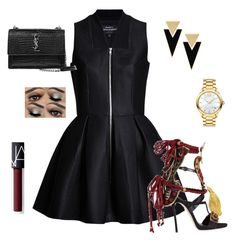 """""""Untitled #10"""" by aieasham on Polyvore featuring Lavinia Cadar, Dsquared2, Yves Saint Laurent, Movado and NARS Cosmetics"""