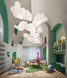 Cloud Collection Circu Magical Furniture - Luxury brand for children Kindergarten Interior, Kindergarten Design, Cloud Decoration, Playroom Decor, Colorful Playroom, Kids Room Design, Kid Spaces, Southern Living, Kids Furniture