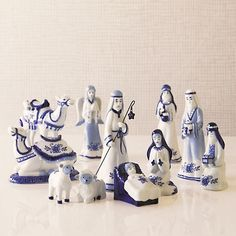Delft Pottery Nativity Set