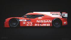Nissan GT-R LM Nismo, rear engine