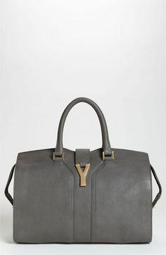 Saint Laurent 'Cabas Classique' Leather Satchel