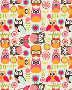 Patterns Owl Paper And Fabrics On Pinterest