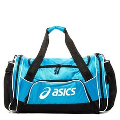 ASICS Edge Medium Duffle (€31) ❤ liked on Polyvore featuring bags, handbags, atomic blu, duffle handbags, shoulder bags, white bags, handle handbags and top handle purse