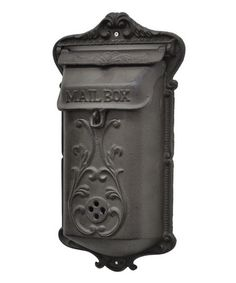 Cast Iron Letter Box - made by Three Hands Corporation Love this! I wouldn't mind receiving valentines in this beautiful mailbox.