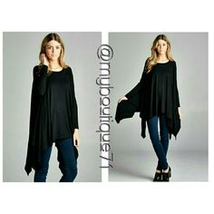 ??Unbalanced Boho Tunic Top Unbalanced Boho Tunic Top. Affordable Brandy Melville Style with asymmetrical hem. long sleeve, loose fit. Made with lightweight jersey that is super soft and drapes very well. Pair with your favorite leggings or skinny jeans!96%rayon 4%spandex?One Size Fits Most. ?PLEASE COMMENT BELOW FOR A PERSONALIZED LISTING?DO NOT PURCHASE THIS LISTING? aprilspirit Tops
