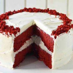 Red Velvet Recept, Bar Mitzvah Favors, Red Pictures, Velvet Cake, Sweet Cakes, Tiramisu, Cheesecake, Food And Drink, Baking