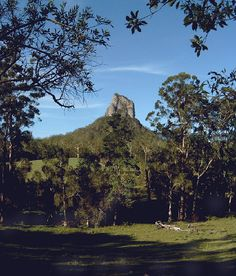 Coonowrin is one of the more notable of the Glass House Mountains, Queensland, Australia