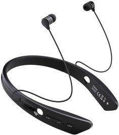 SNEER iSport Series Mini Wireless Bluetooth Stereo Headset for Iphone 6, 5S, 5C, 4S, 4, Ipad 2, 3, 4 New iPad, iPad Air Ipod, Samsung Galaxy S5, Galaxy 4, Galaxy 3, Sony L39h, L36h (Black)