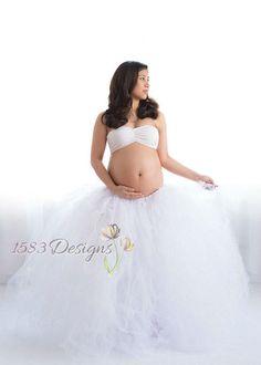 Maternity or Larger Waist FULL Custom Made Tutu by 1583Designs