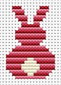 Easy Peasy Bunny cross stitch kit from Fat Cat Cross Stitch at Busy Lizzie Crafts Easy Cross Stitch Patterns, Cat Cross Stitches, Small Cross Stitch, Cross Stitch Bookmarks, Cross Stitch Cards, Cross Stitch Animals, Cross Stitch Kits, Cross Stitch Designs, Cross Stitching