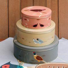Game Birdy - Set of 3 Cake Tins