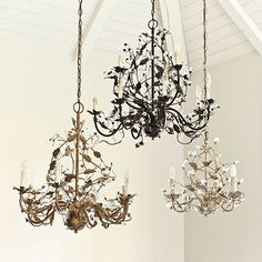 Claire Chandeliers--in particular, the petite three-armed chandelier
