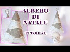 Tutorial: albero di Natale pannolenci, cartamodello - YouTube