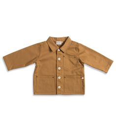 Foundry Jacket in Tan by Monty & Co - Junior Edition Tools And Toys, How To Roll Sleeves, Shirt Sleeves, Contemporary Design, Work Wear, Cool Outfits, Pure Products, Shirt Dress, Cotton