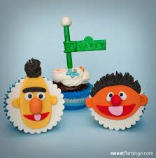 Image result for bert and ernie cupcake topper