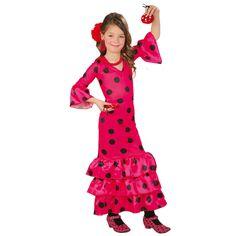 Déguisement Flamenco Sévillane Rose #déguisementsenfants #costumespetitsenfants #nouveauté2016