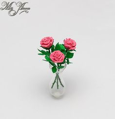 Tutorial on how to make realistic polymer clay miniature roses
