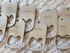 Bottle Opener Keyrings. Wonderful wedding favour idea! By Honeydew & Violet #weddingfavours #weddingideas